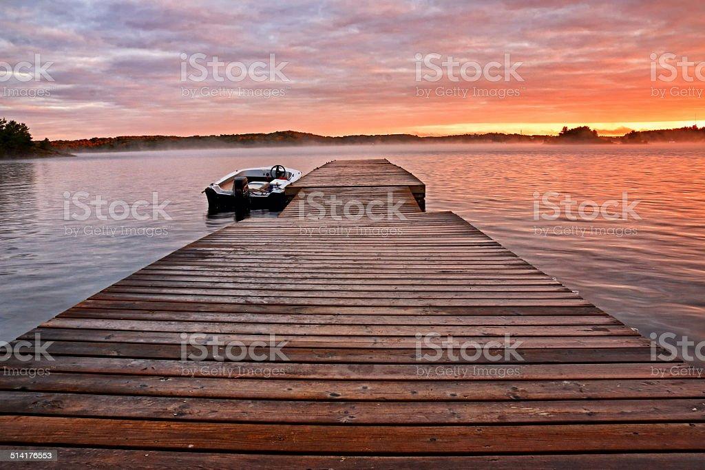 Cottage Pier stock photo