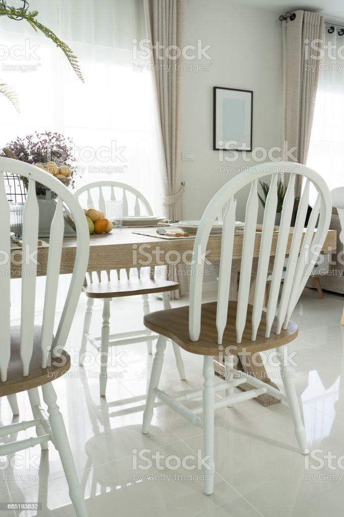 Cottage Style Dining Room Stock Photo - Download Image Now ...