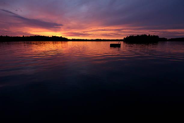 Cottage Sunset stock photo