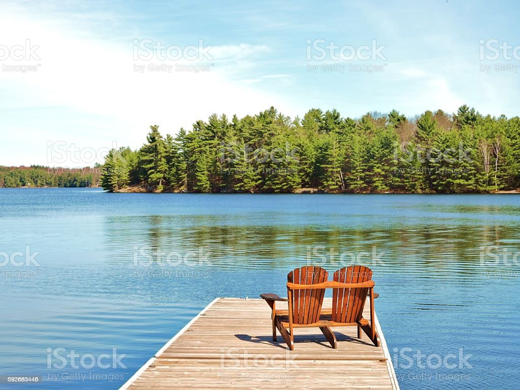 Cottage Time stock photo