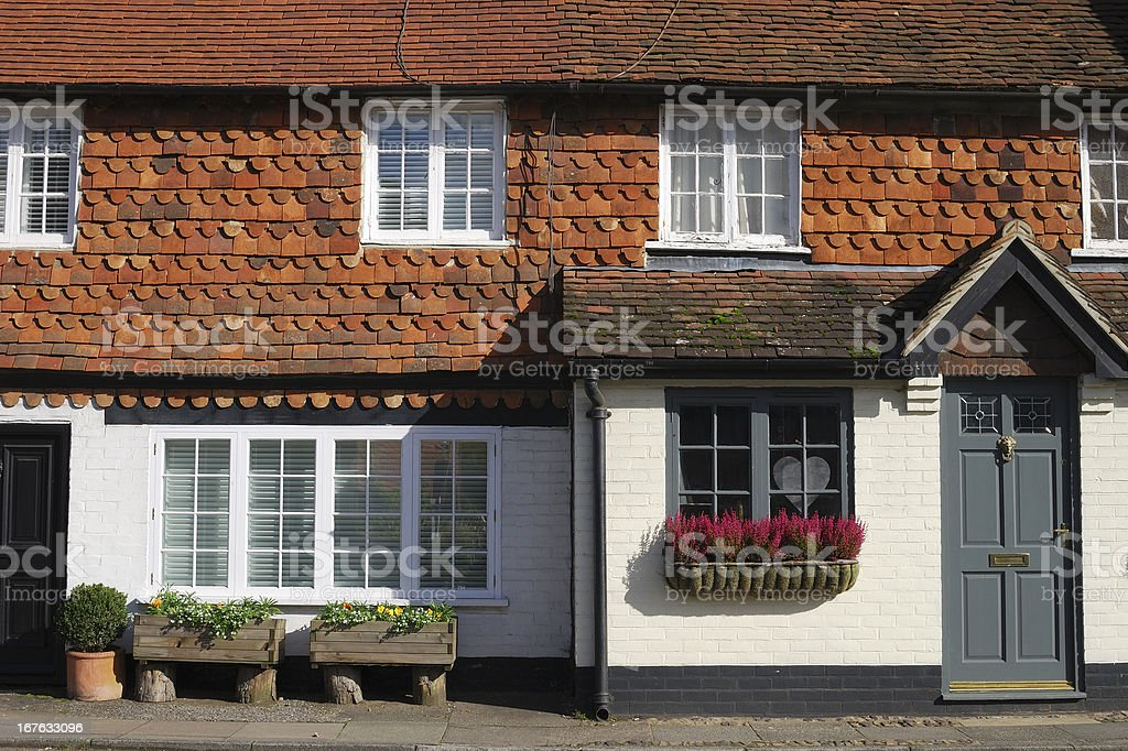 Cottages at Chiddingfold. Surrey. England royalty-free stock photo
