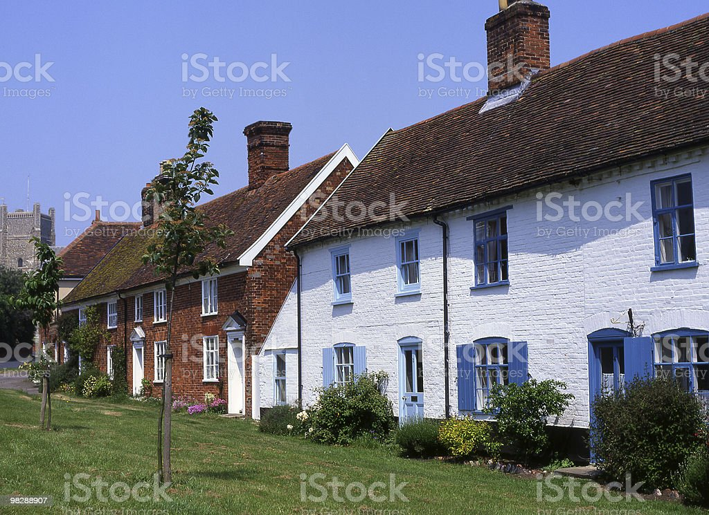 Cottages at Orford in Suffolk. England royalty-free stock photo