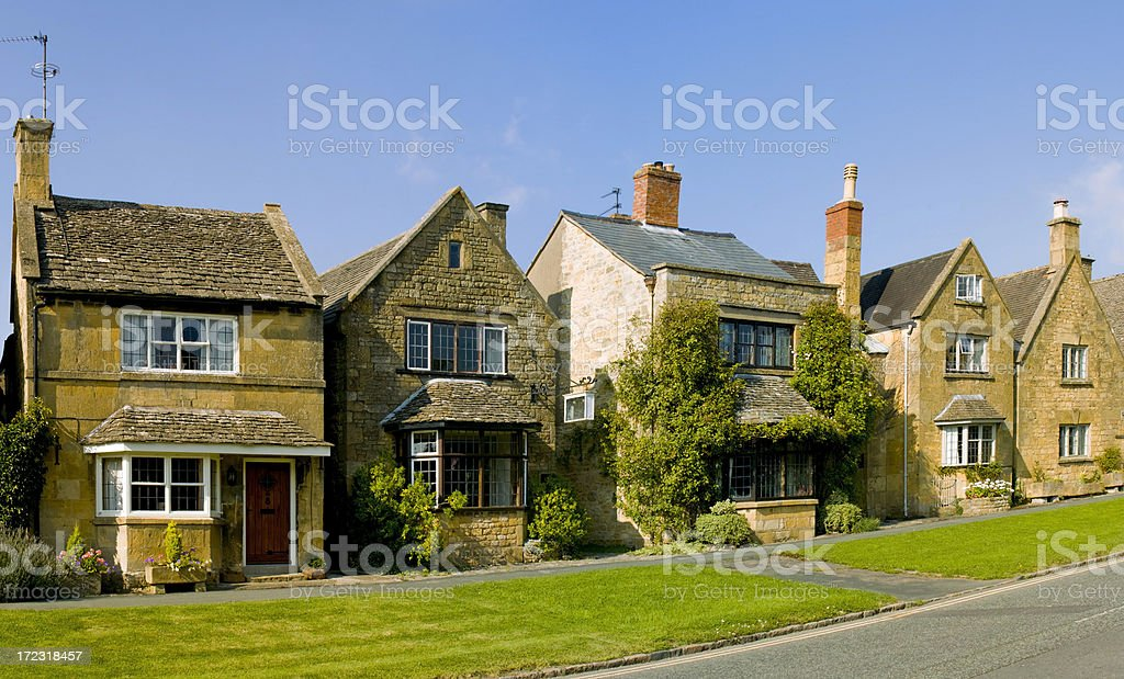cottages broadway royalty-free stock photo