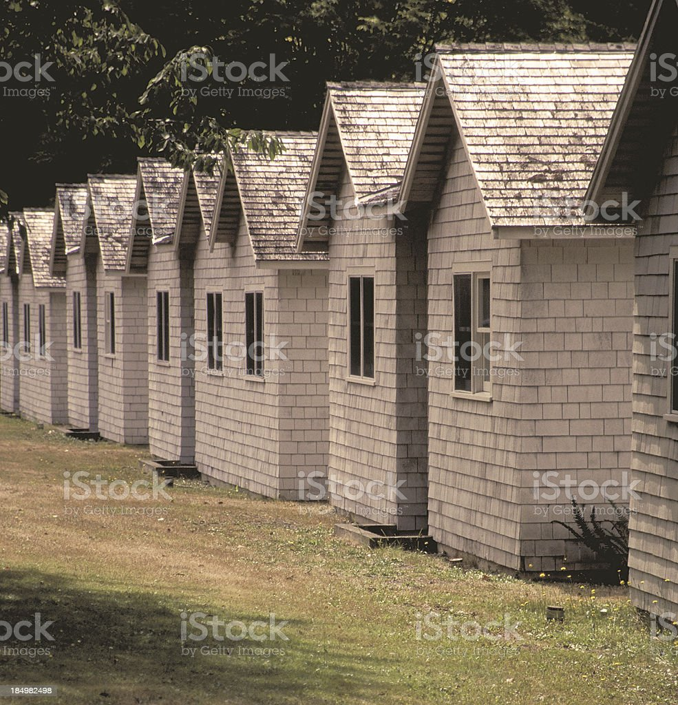 Cottages in a row. royalty-free stock photo