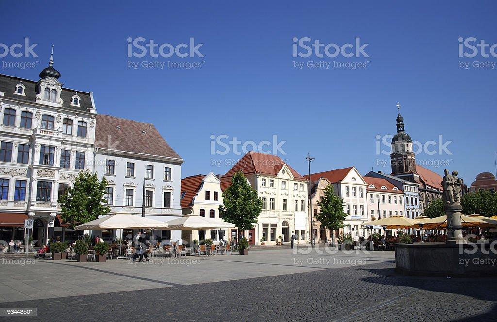 cottbus-Markt Lizenzfreies stock-foto
