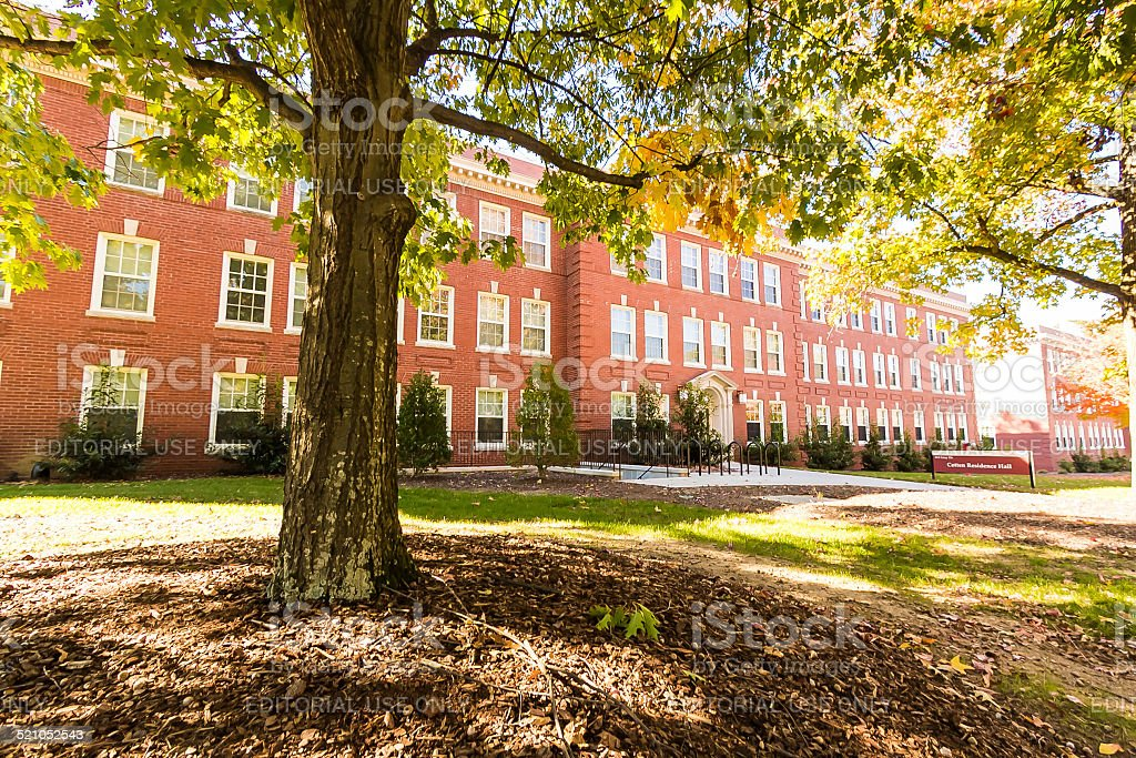 Cotten Residence Hall at UNCG stock photo