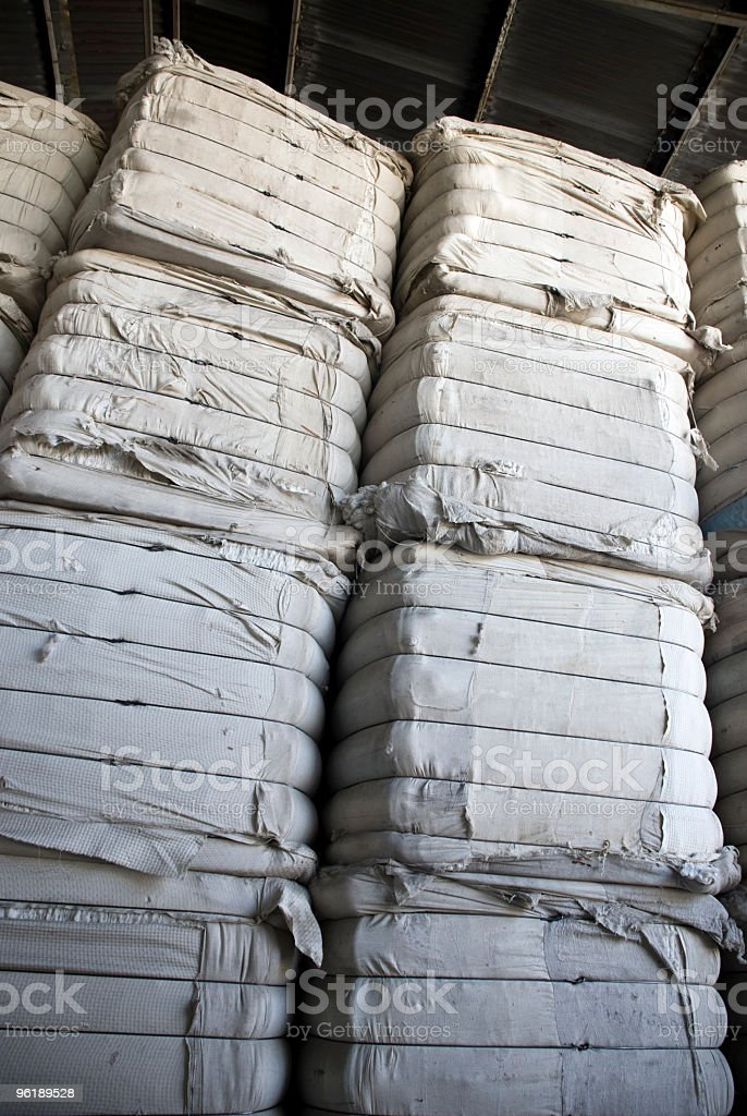 Cotton Bails stock photo
