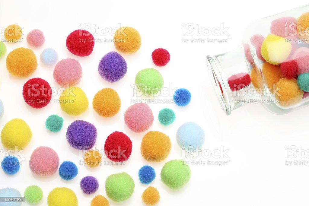 Cotton ball royalty-free stock photo