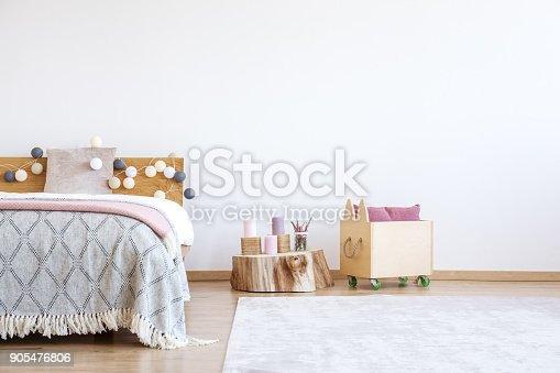 istock Cotton balls on wooden bedhead 905476806