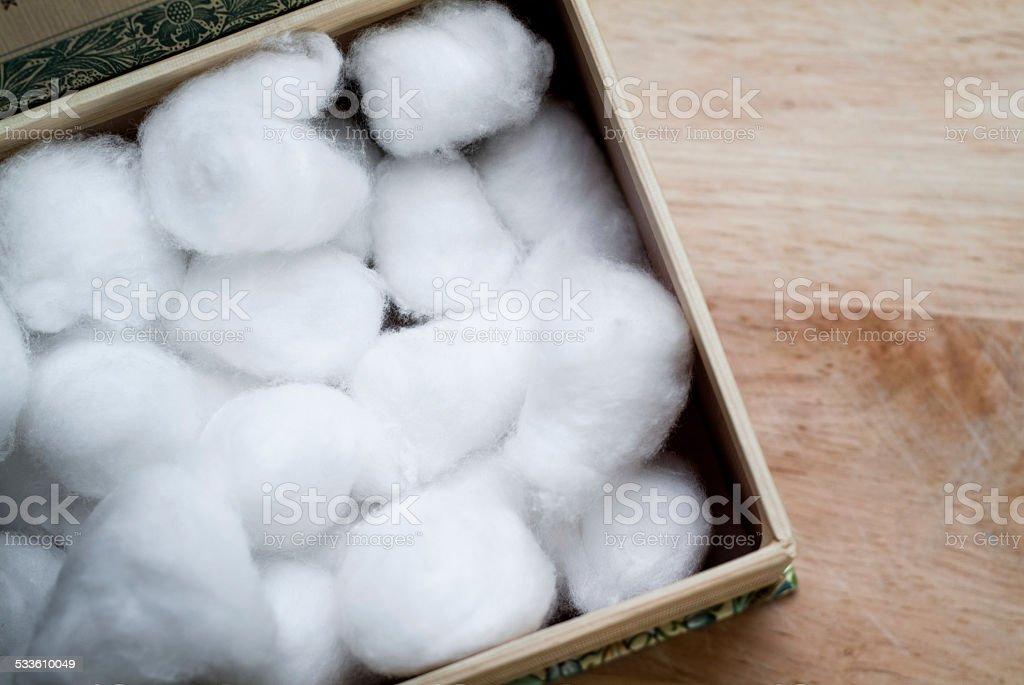 Cotton balls stock photo
