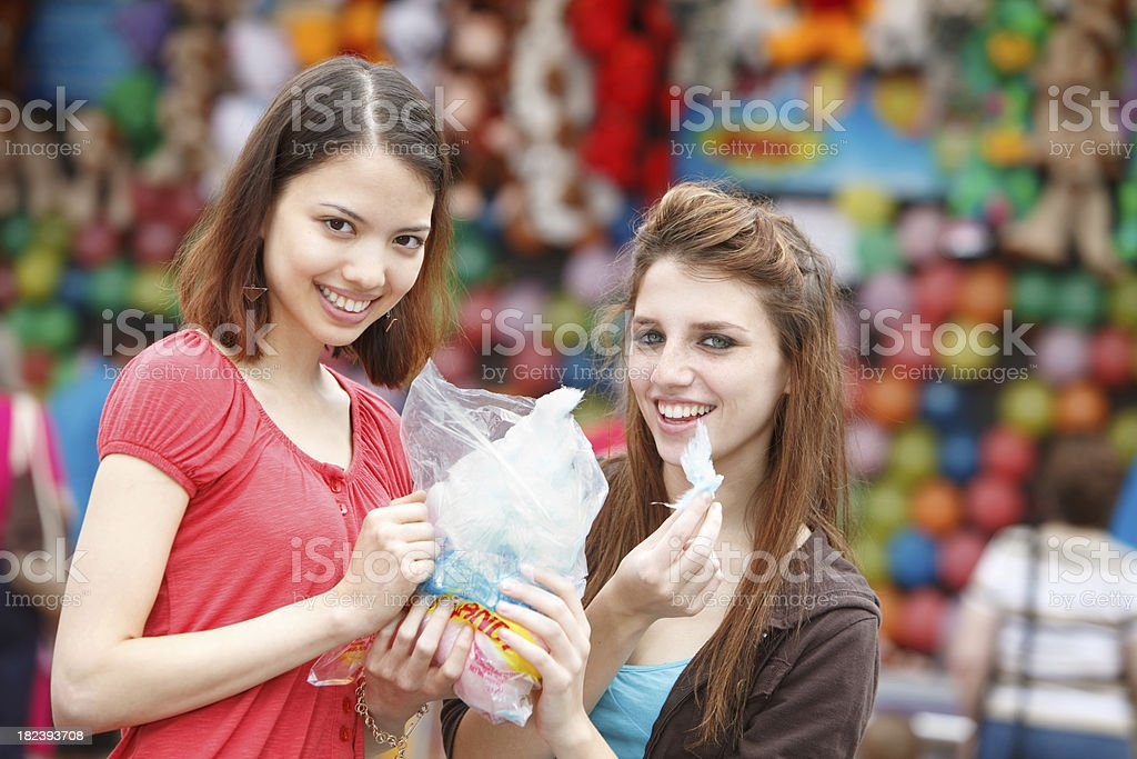 Cotton Candy at a Carnival royalty-free stock photo