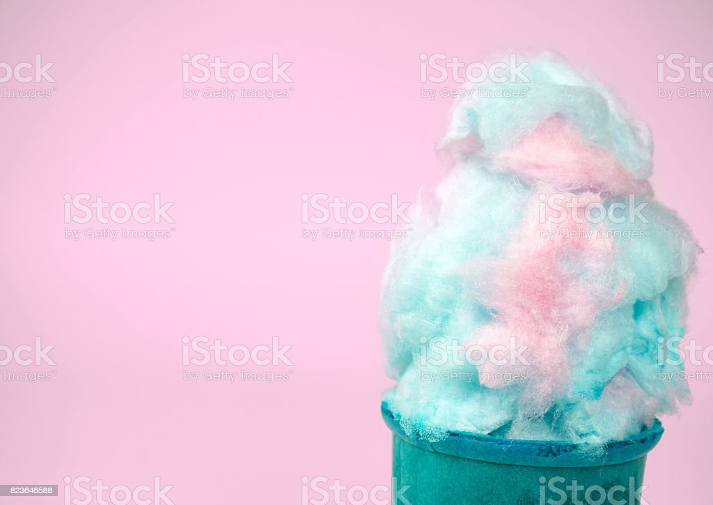 cotton candy cone stock photo