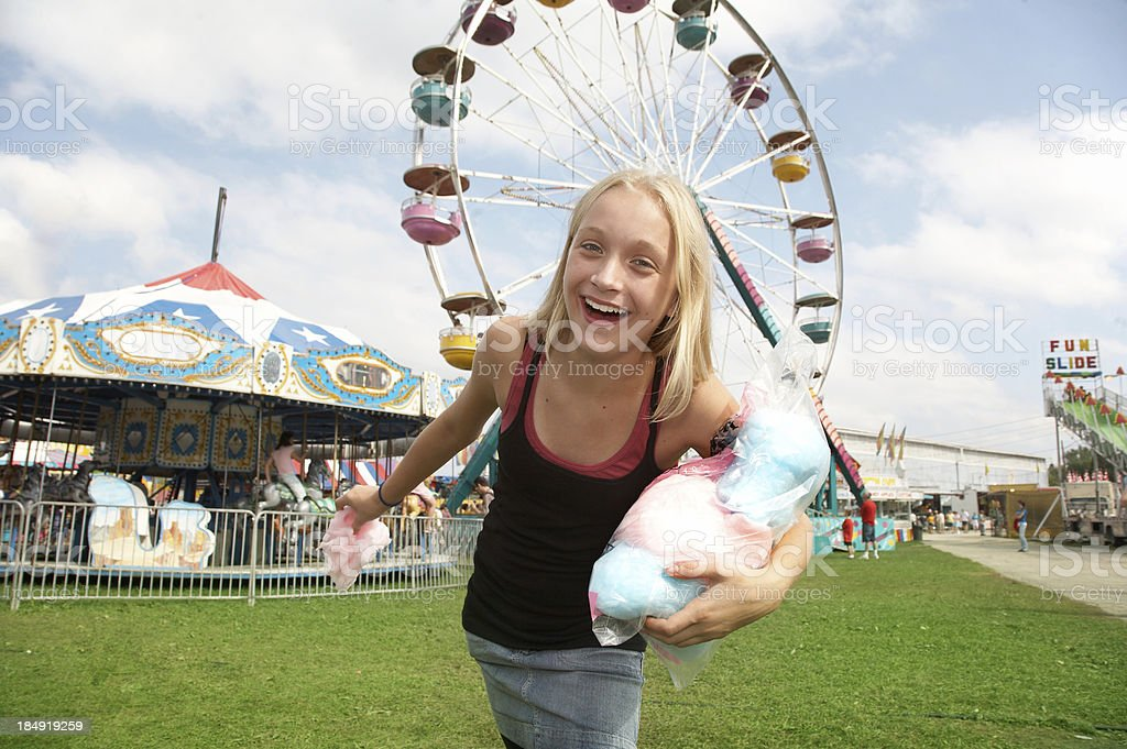 Cotton Candy Girl royalty-free stock photo