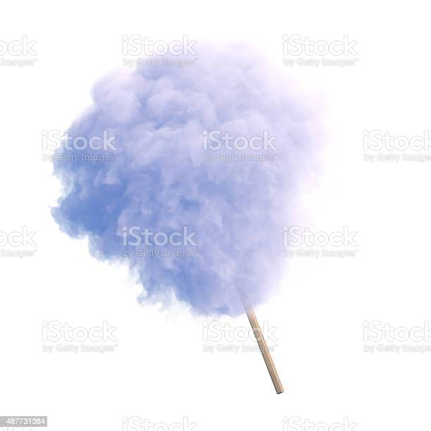 Photo of Cotton candy isolated