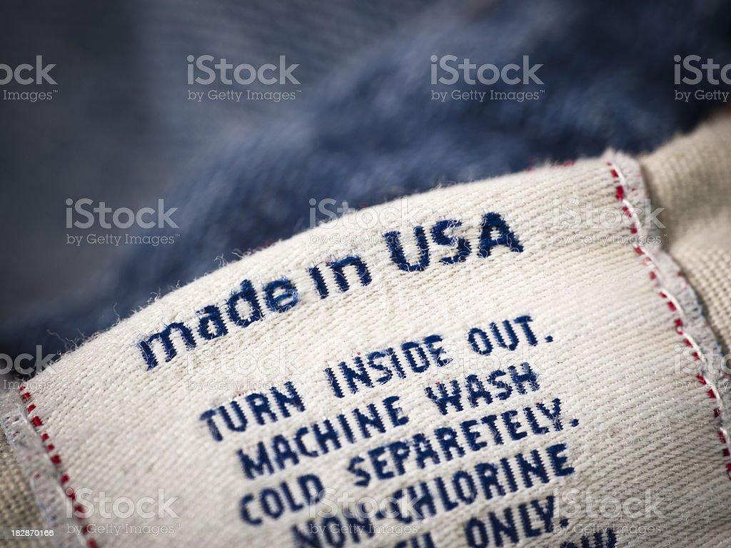 Cotton denim jean material royalty-free stock photo