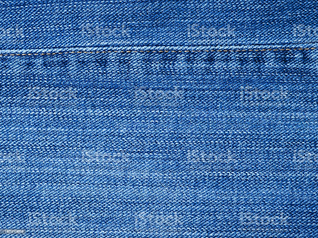 Cotton denim jean material royalty-free stock photo