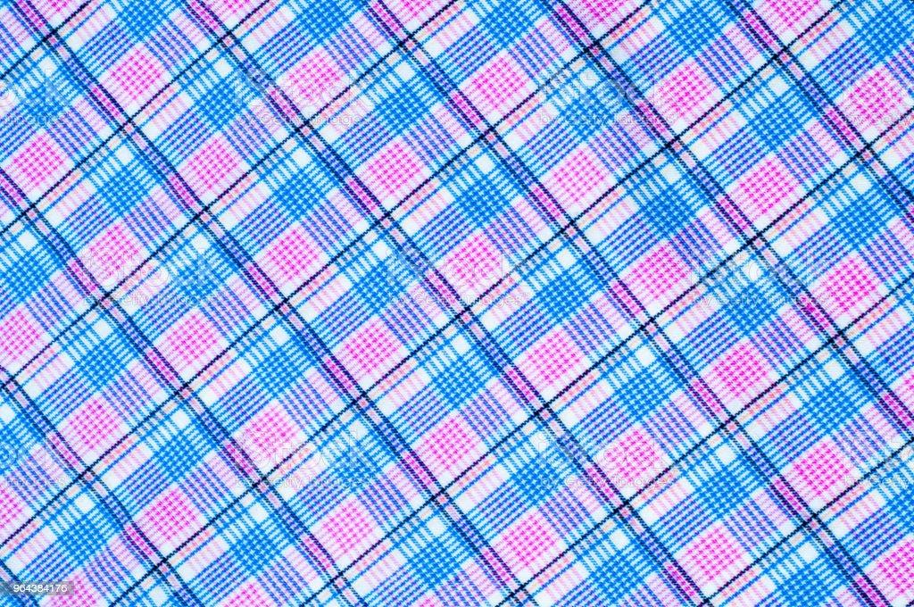 Textura de tecido de algodão, fundo, cor de xadrez - Foto de stock de Algodão - Material Têxtil royalty-free