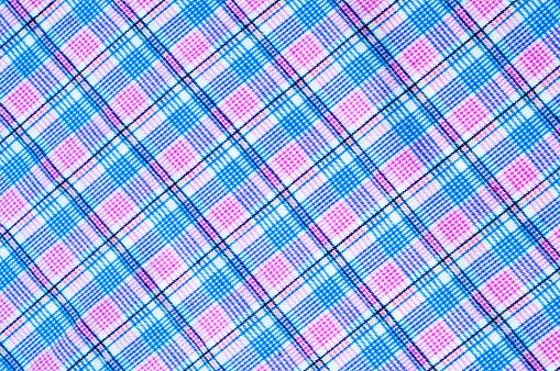 Foto de Textura De Tecido De Algodão Fundo Cor De Xadrez e mais fotos de stock de Algodão - Material Têxtil