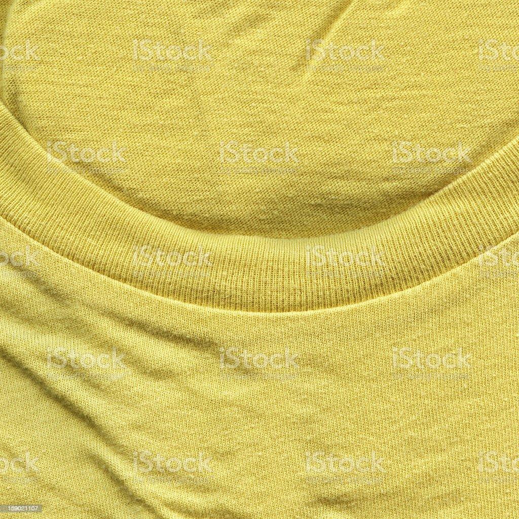 Cotton Fabric Texture - Bright Yellow with Collar XXXXL royalty-free stock photo