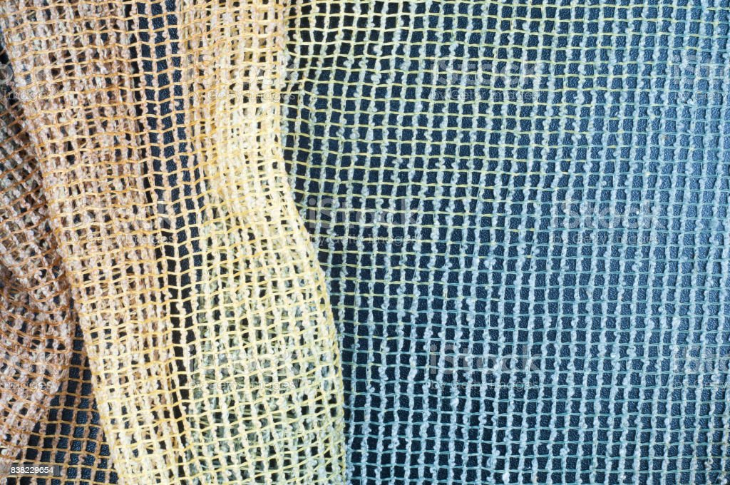 Cotton Fabric Texture Colored Transparent Mesh Stock Photo