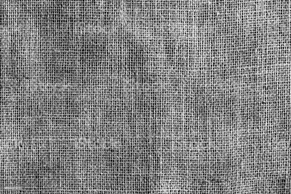 Cotton fabric texture in black and white. royalty-free stock photo