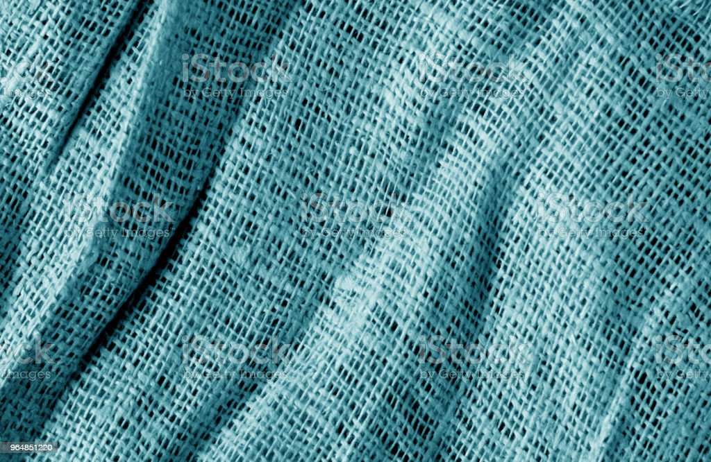 Cotton fabric texture in cyan color. royalty-free stock photo