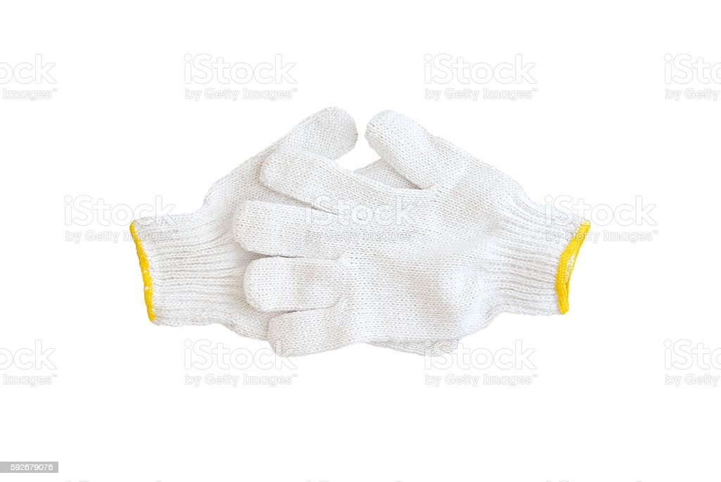cotton gloves stock photo