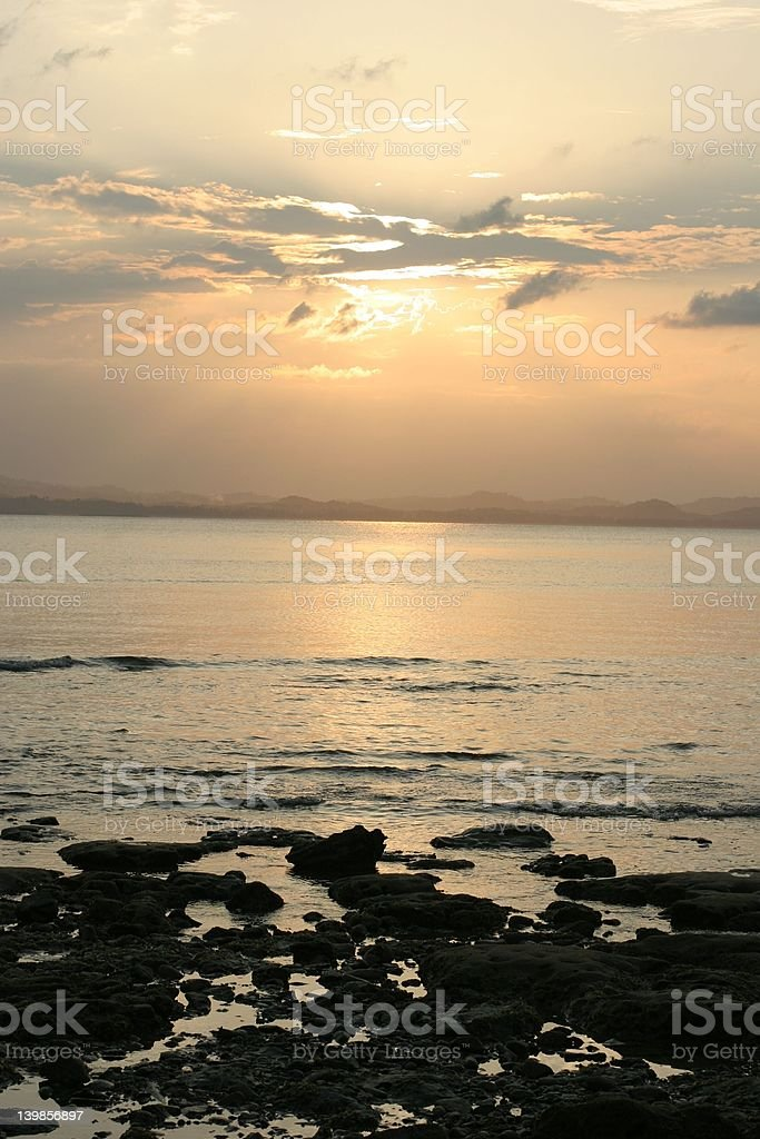Pulau Kapas Sunset stock photo