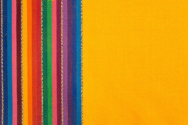 cotton, linnen, wool textile fabric canvas detail background - mexico stock photos and pictures