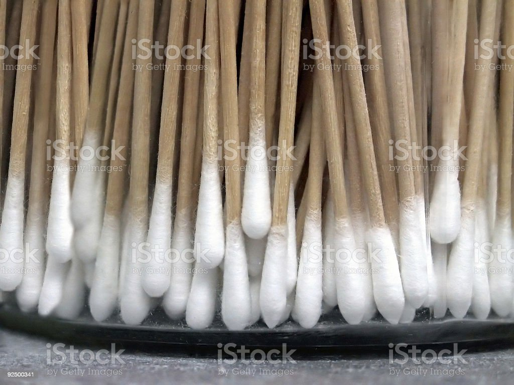 Cotton Medical Swabs royalty-free stock photo