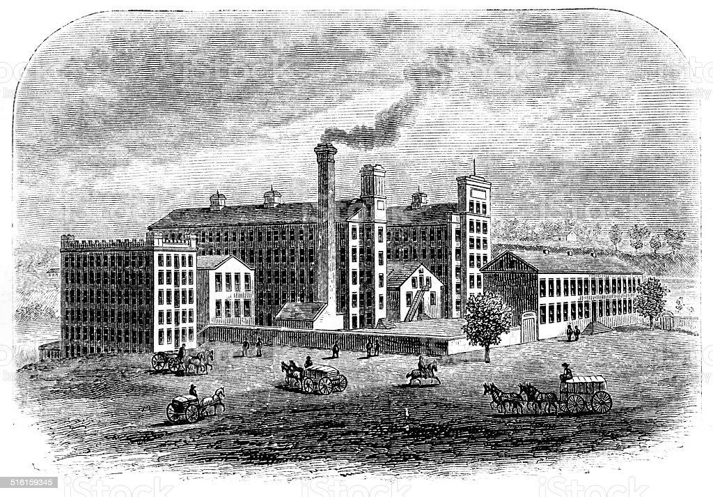 Cotton Mill stock photo