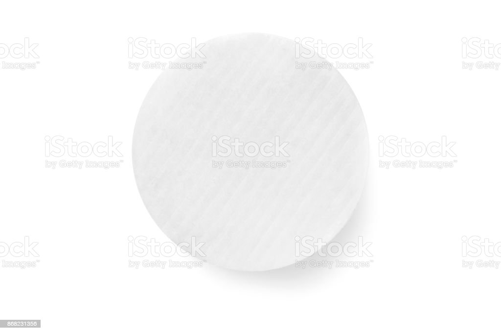 Cotton pads isolation stock photo
