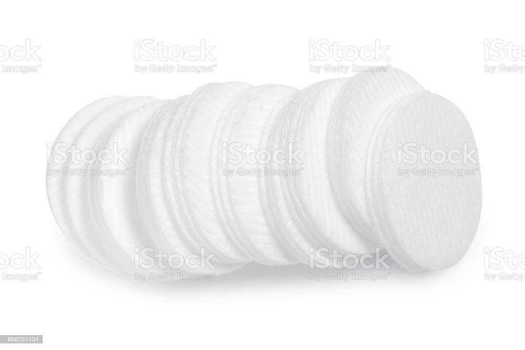Cotton pads isolation stock photo