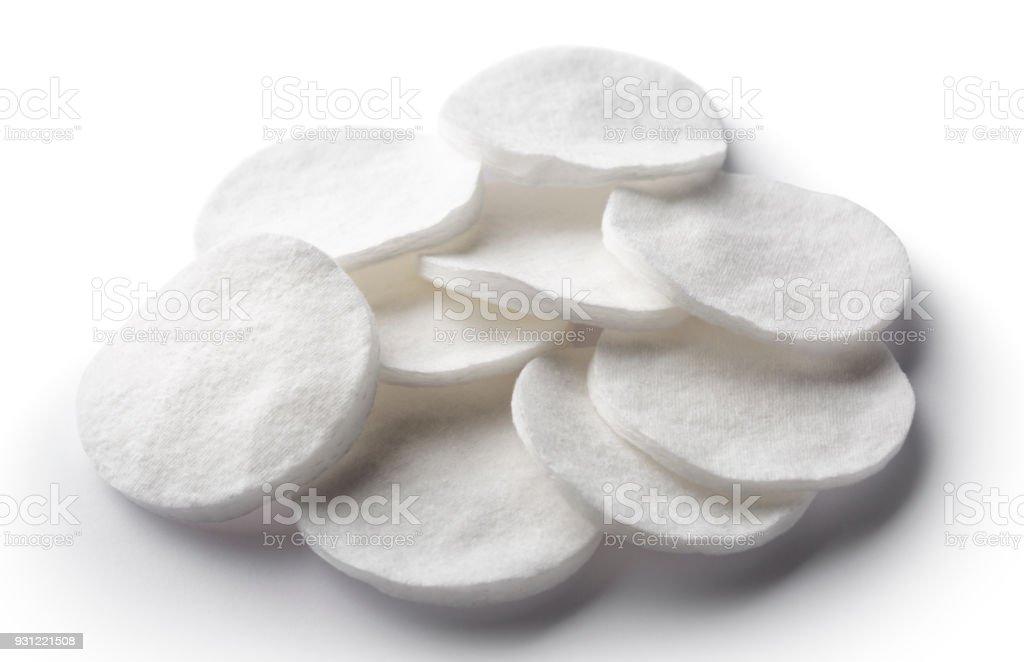Cotton pads stock photo
