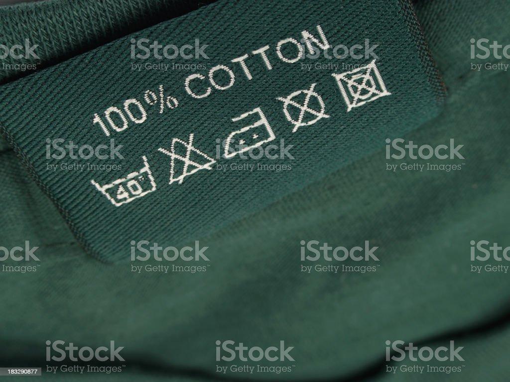 100% Cotton stock photo