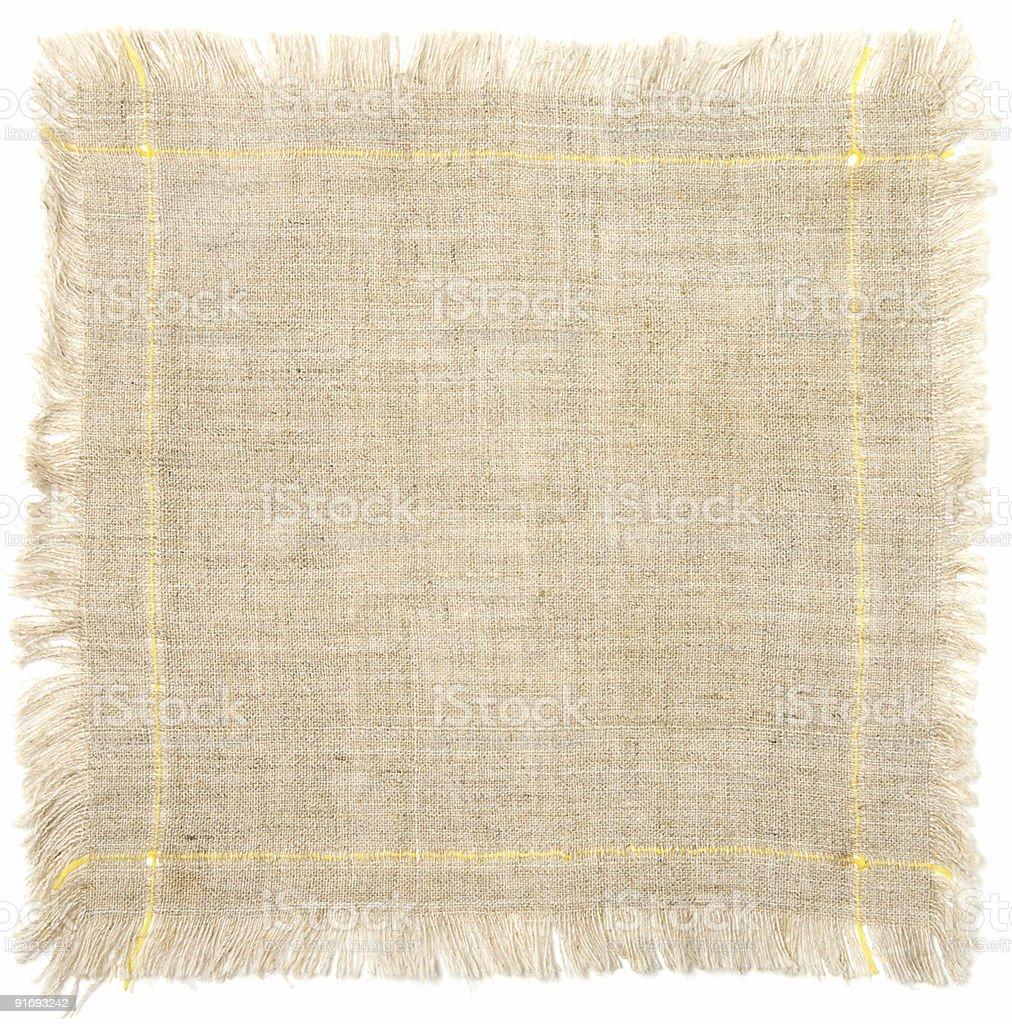 Cotton rag isolated royalty-free stock photo