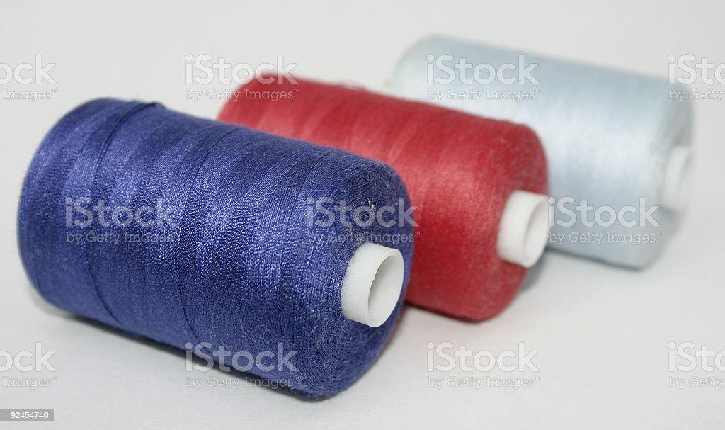 cotton reels stock photo