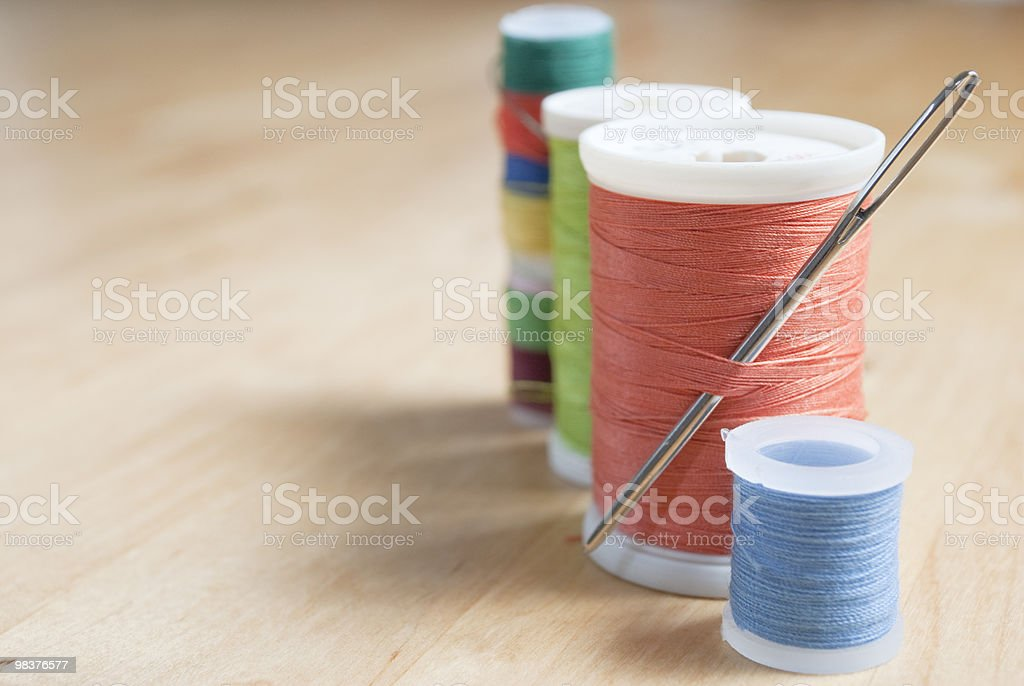 Cotton Reels - Right Frame royalty-free stock photo