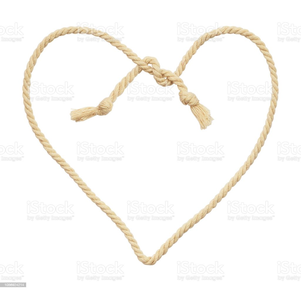 Pamuk ip kalp şeklinde stok fotoğrafı