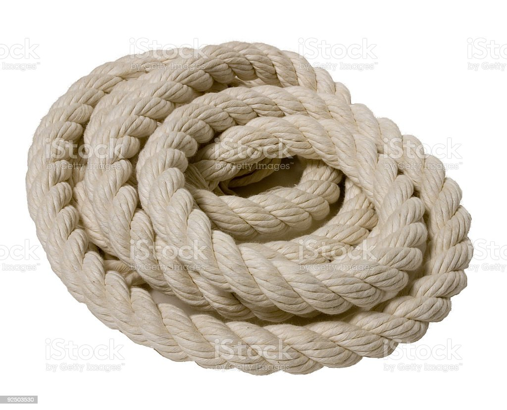 Cotton Rope royalty-free stock photo