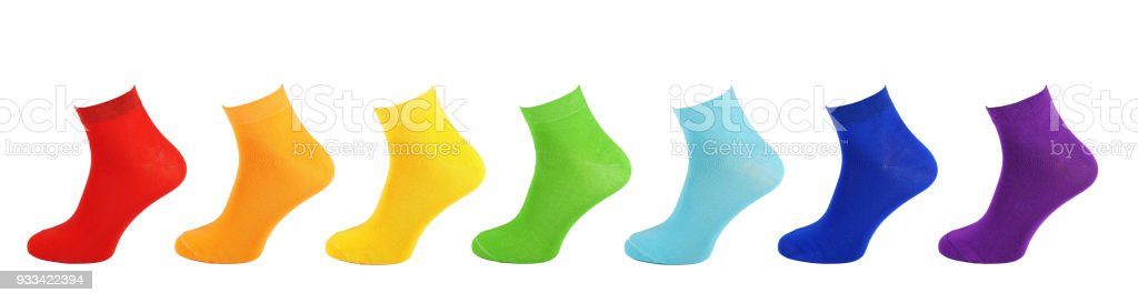 13c5fbbcbd3d65 Cotton Socken Alle Farben Bunte Sammlung Von Socken Regenbogen Alle ...