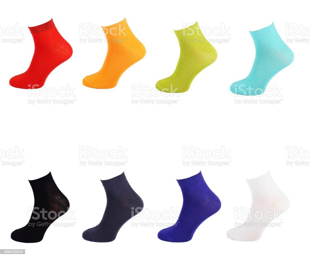 3be38f764c1d13 Cotton Socken Alle Farben Bunte Sammlung Von Socken Regenbogen Alle Farben  Des Regenbogens Socke Isolieren Stockfoto und mehr Bilder von Baumwolle