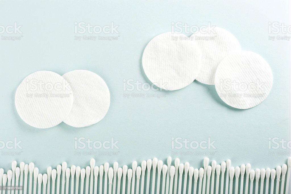 cotton sticks and discs stock photo