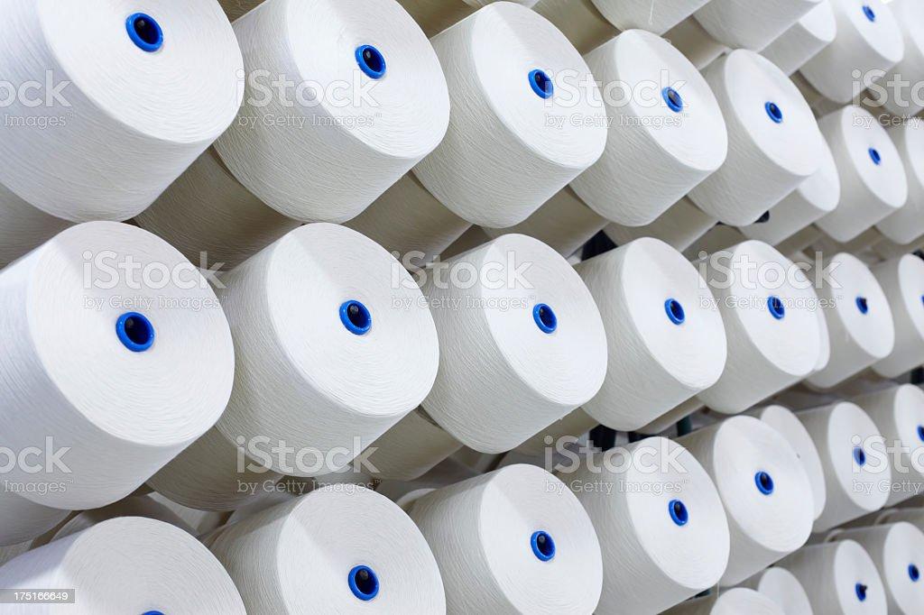 Cotton thread bobbins royalty-free stock photo