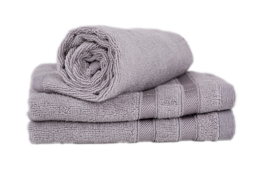 1131900491 istock photo cotton towels stack isolated - Stock Image 507303626