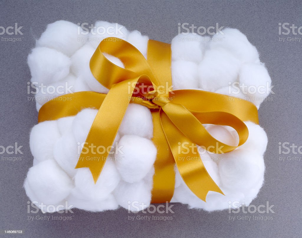 cotton with ribbon royalty-free stock photo