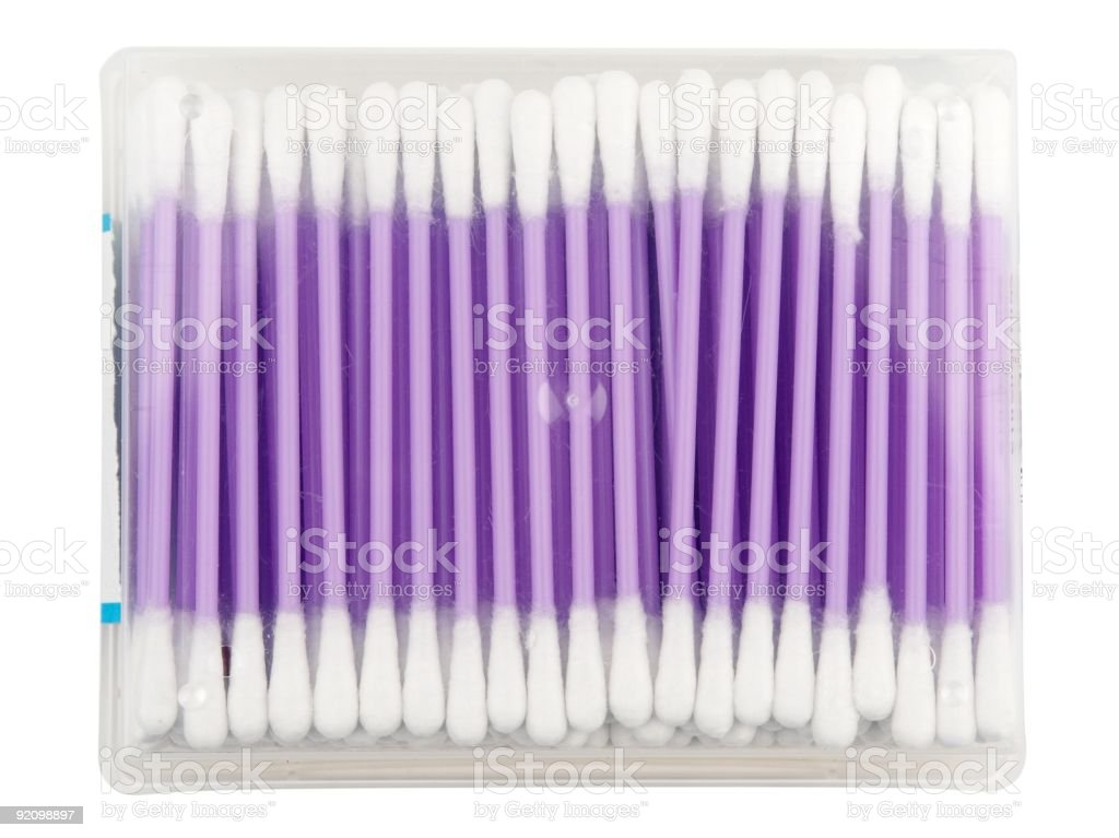 Cotton Wool Buds royalty-free stock photo