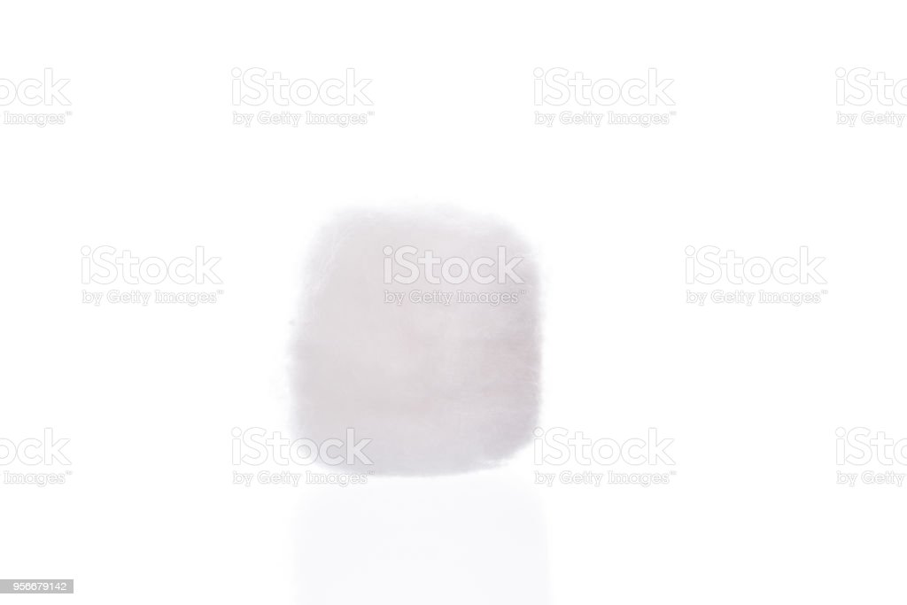 Cotton wool isolated on white stock photo