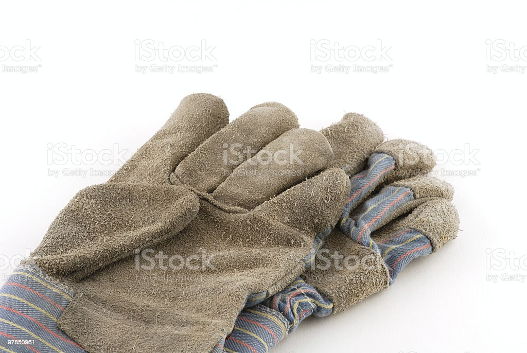 Cotton Work Gloves royalty-free stock photo
