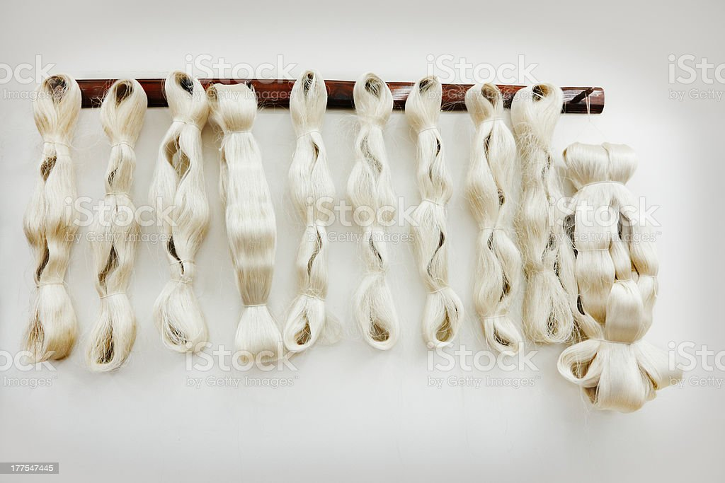 Cotton yarn stock photo